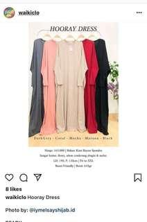 Baju menyusui ish hooray dress CORAL