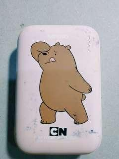 🚚 Cute we bare bear portable charger