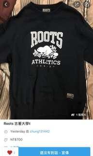 🚚 Roots古著大學t