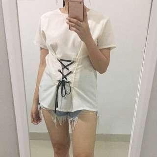 White Kimono Top