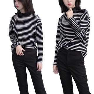 📦[PO] Korean Stripes Long Sleeve Top