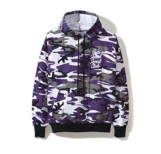 ASSC options purple camo hoodie
