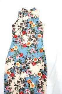 Imported Fitted Floral Dress