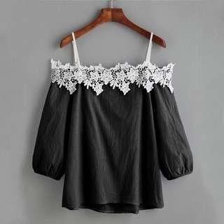 📦[PO] Summer Off-Shoulder Long Sleeve Blouse