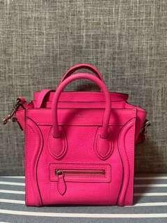 Celine Nano neon Pink bag Balenciaga gucci 手袋
