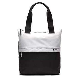 WHITE AND BLACK NIKE RADIATE TOTE BAG