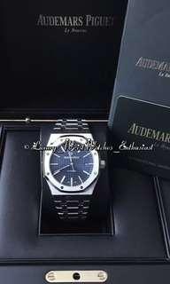 ***SOLD*** BNIB Unworn Overseas Set AP Audemars Piguet Royal Oak 15400ST.OO.1220ST.03 Blue Dial