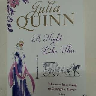 """""""A Night Like This"""" by Julia Quinn (historical romance)"""