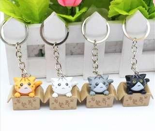 Cat in Box Keychain