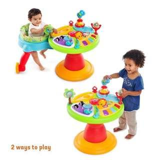 BRAND NEW Bright Starts Around We Go 3-in-1 Activity Center Zippity Zoo