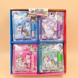 Notepads Unicorn & Flamingo