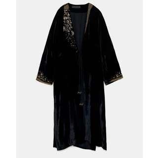 🚚 原價4990 ZARA刺繡短袍 全新吊牌未拆  天鵝絨
