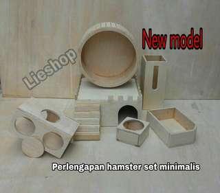 Rumah Fullset kayu untuk hamster