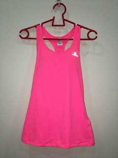 Hot Pink Singlet with Sports Bra Attached