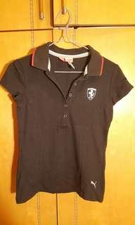 Puma polo shirt in black size S