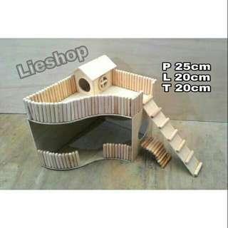 Rumah hamster kayu