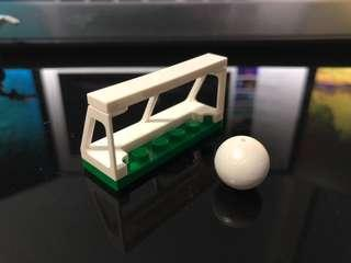 Lego Goal Post and Soccer Ball (From Set 60134)