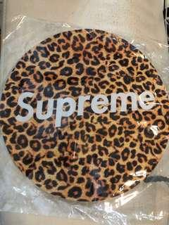 Supreme Over Leopard Print Round Shaped Mousepad