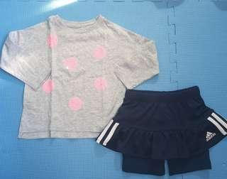 Cotton On Top & Adidas Skorts