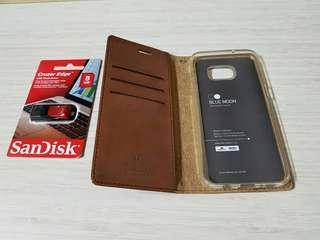 Samsung S7 Edge Phone Cover and SanDisk 8GB Thumbdrive