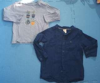 H&M and Zippy Tops 9-12M