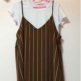 🚚 BN Korean-Inspired Two Piece Slip Dress