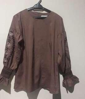 Brown Blouse top new with tag size 40