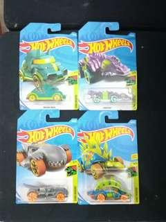 Hotwheels Dino Riders Collection, Set of 4, 2019 series #carcollector