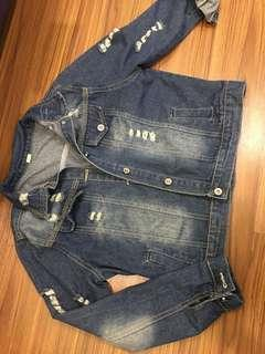 Ripped Casual Denim Jacket