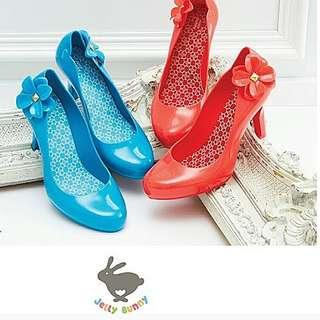 🆕 💯% Authentic Jelly Bunny High Heels - Red Hot