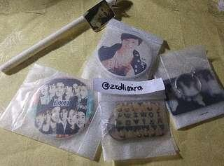 [WTS] EXO Keychains, Badges & Pen