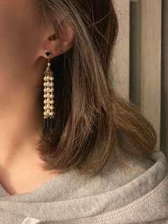 🚚 專櫃品牌kilakila 珍珠豪華款 流蘇耳環