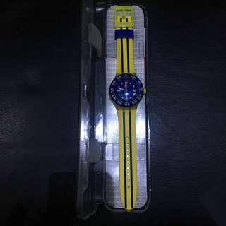 Swatch Men Quartz Dial Color Blue Watch