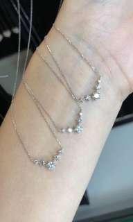 🔥🔥18k金鑽石項鏈💎G色!