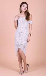 🚚 Topazette POSH Asymmetrical Lace Dress