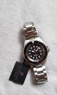 $̶6̶7̶0̶0̶ => 5640  罕有黑瓷圈,藍夜光GMT潛水錶, STEINHART 全自動 上鏈 ETA 機芯