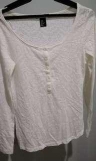 White button-down long sleeves