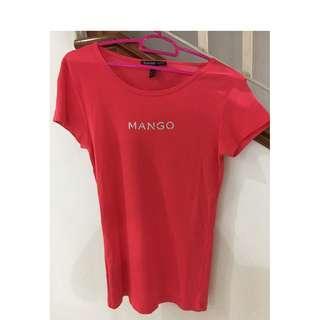 Mango tangerine T-shirt (XS size)