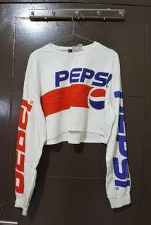 H&M Crop Sweater Pepsi