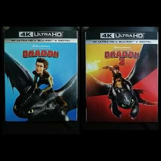 How To Train Your Dragon 1 & 2 4k Ultra HD Blu-ray