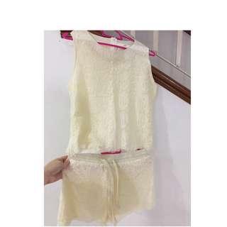 Beige Lace jumpsuits