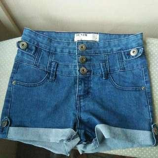 cotton on denim blue high waisted shorts <updated as of 11:11PM, 21/2/19>