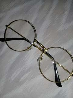 Round Gold Glasses ( no power )