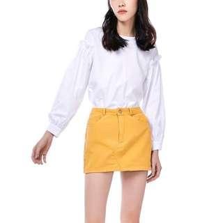TEM yellow corduroy skirt