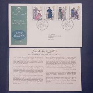 British First Day Cover- Jane Austen 1775-1817
