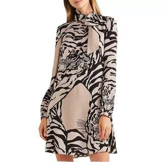 Spring Collection Tiger Pattern Mini Dress