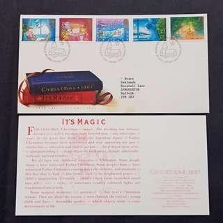 British First Day Cover- Christmas 1987