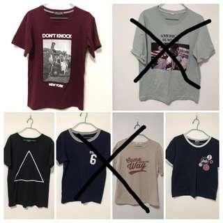🚚 Basic vintage graphic tshirts #SpringCleanAndCarousell