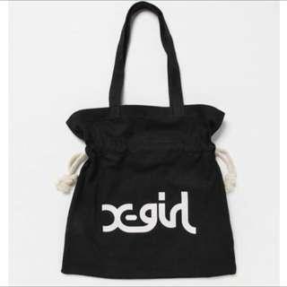 X-girl 保證大容量束口袋側肩包