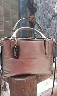 Tas Coach 2 zipper sz 25cm, gold